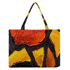 Colorful Glass Mosaic Art And Abstract Wall Background Medium Zipper Tote Bag