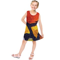 Colorful Glass Mosaic Art And Abstract Wall Background Kids  Tunic Dress