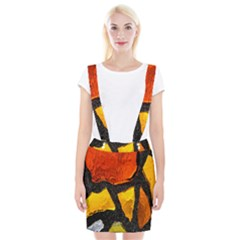 Colorful Glass Mosaic Art And Abstract Wall Background Suspender Skirt