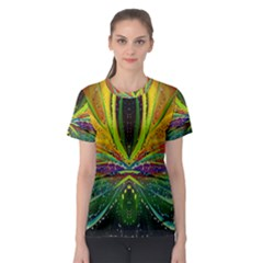 Future Abstract Desktop Wallpaper Women s Sport Mesh Tee