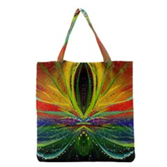 Future Abstract Desktop Wallpaper Grocery Tote Bag
