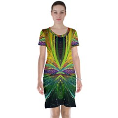 Future Abstract Desktop Wallpaper Short Sleeve Nightdress
