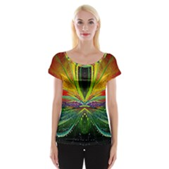 Future Abstract Desktop Wallpaper Women s Cap Sleeve Top