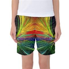 Future Abstract Desktop Wallpaper Women s Basketball Shorts