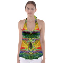 Future Abstract Desktop Wallpaper Babydoll Tankini Top