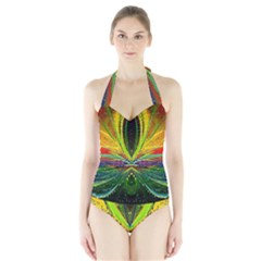 Future Abstract Desktop Wallpaper Halter Swimsuit