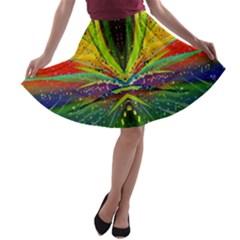 Future Abstract Desktop Wallpaper A-line Skater Skirt