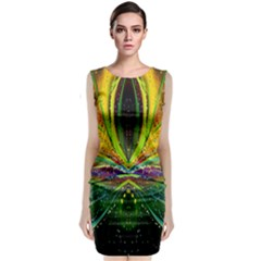 Future Abstract Desktop Wallpaper Classic Sleeveless Midi Dress