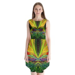Future Abstract Desktop Wallpaper Sleeveless Chiffon Dress