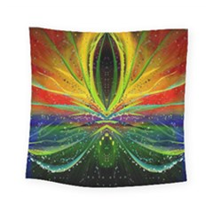 Future Abstract Desktop Wallpaper Square Tapestry (small)