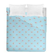 Spaceship Cartoon Pattern Drawing Duvet Cover Double Side (Full/ Double Size)