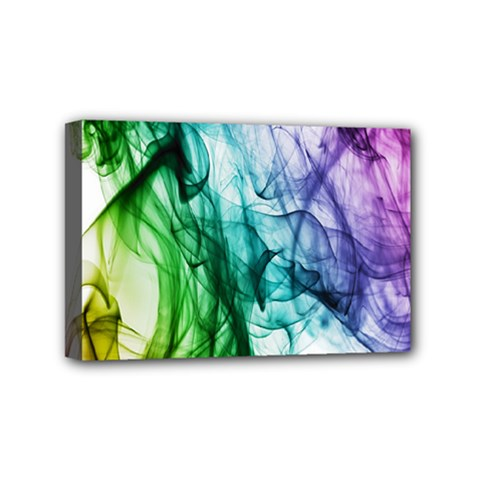 Colour Smoke Rainbow Color Design Mini Canvas 6  X 4