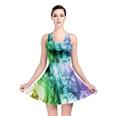 Colour Smoke Rainbow Color Design Reversible Skater Dress