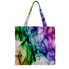 Colour Smoke Rainbow Color Design Zipper Grocery Tote Bag
