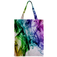 Colour Smoke Rainbow Color Design Zipper Classic Tote Bag