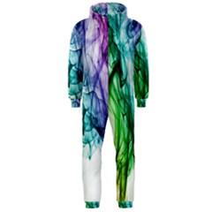 Colour Smoke Rainbow Color Design Hooded Jumpsuit (men)