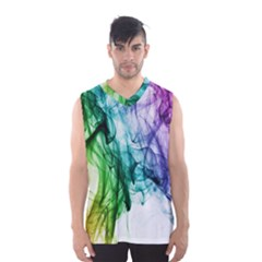 Colour Smoke Rainbow Color Design Men s Basketball Tank Top