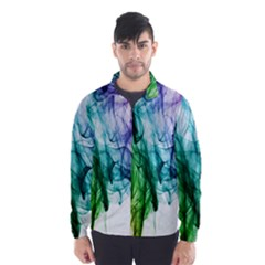 Colour Smoke Rainbow Color Design Wind Breaker (men)