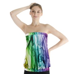 Colour Smoke Rainbow Color Design Strapless Top