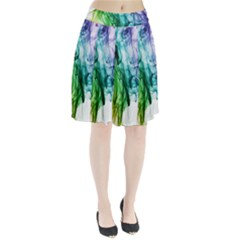 Colour Smoke Rainbow Color Design Pleated Skirt
