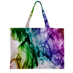Colour Smoke Rainbow Color Design Medium Tote Bag