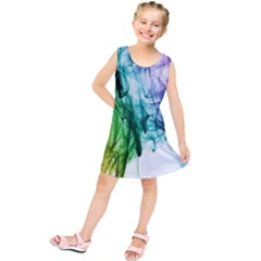 Colour Smoke Rainbow Color Design Kids  Tunic Dress
