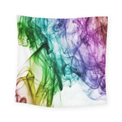 Colour Smoke Rainbow Color Design Square Tapestry (small)