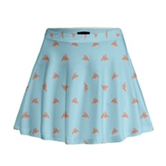 Spaceship Cartoon Pattern Drawing Mini Flare Skirt
