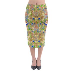 Lizard And A Skull Midi Pencil Skirt