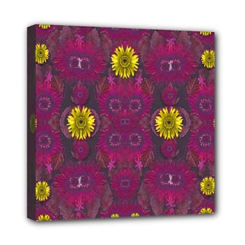Colors And Wonderful Sun  Flowers Mini Canvas 8  x 8