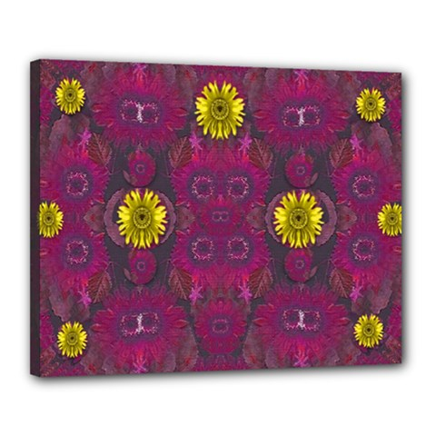 Colors And Wonderful Sun  Flowers Canvas 20  X 16