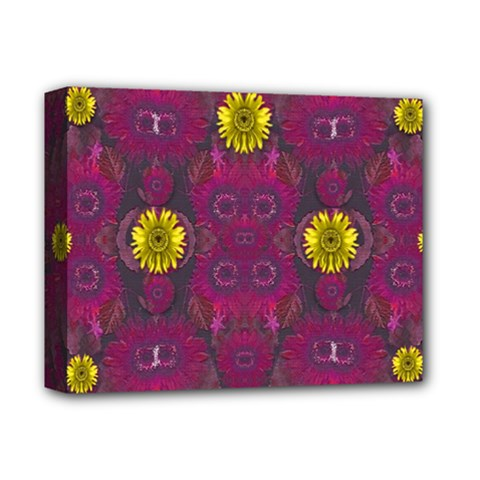 Colors And Wonderful Sun  Flowers Deluxe Canvas 14  x 11