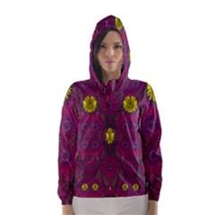 Colors And Wonderful Sun  Flowers Hooded Wind Breaker (Women)