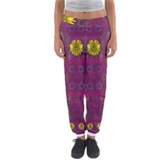 Colors And Wonderful Sun  Flowers Women s Jogger Sweatpants