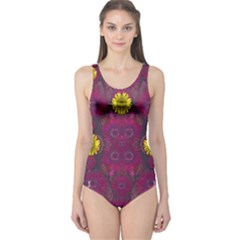 Colors And Wonderful Sun  Flowers One Piece Swimsuit