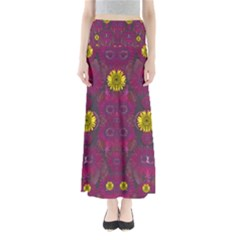 Colors And Wonderful Sun  Flowers Maxi Skirts