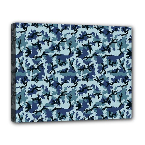 Navy Camouflage Canvas 14  x 11