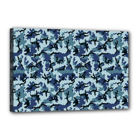 Navy Camouflage Canvas 18  x 12