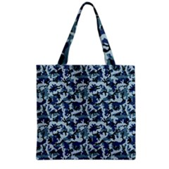 Navy Camouflage Grocery Tote Bag