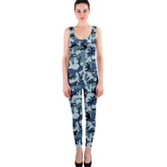 Navy Camouflage Onepiece Catsuit