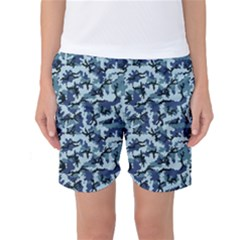 Navy Camouflage Women s Basketball Shorts