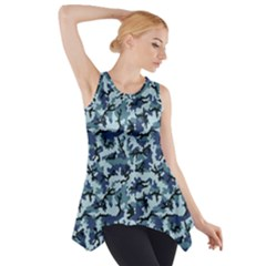 Navy Camouflage Side Drop Tank Tunic