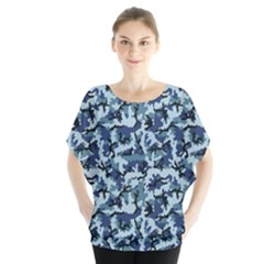 Navy Camouflage Blouse