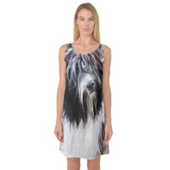Schapendoes Sleeveless Satin Nightdress
