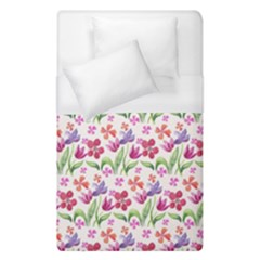 Watercolor flowers and butterflies pattern Duvet Cover (Single Size)