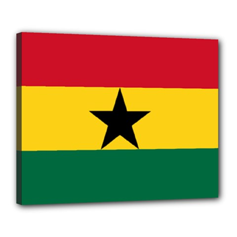 Flag of Ghana Canvas 20  x 16