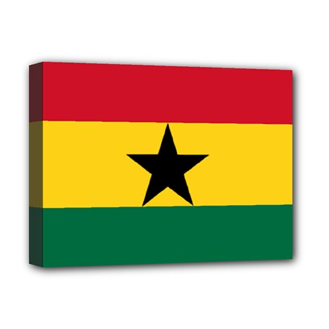 Flag of Ghana Deluxe Canvas 16  x 12
