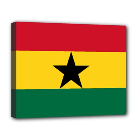 Flag of Ghana Deluxe Canvas 20  x 16