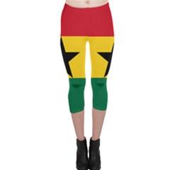 Flag of Ghana Capri Leggings