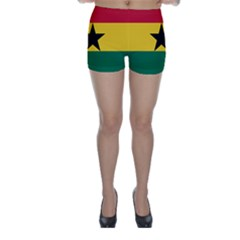 Flag of Ghana Skinny Shorts